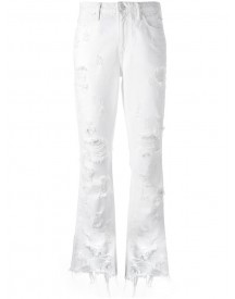 Alexander Wang - Distressed Cropped Jeans - Women - Cotton - 28 afbeelding