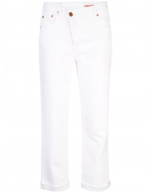 Alice+olivia Amazing Slim-fit Jeans - Wit afbeelding