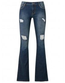 Amapô - Distressed Flared Jeans - Women - Cotton/elastodiene - 36 afbeelding