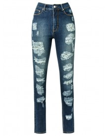 Amapô - Distressed Skinny Jeans - Women - Cotton/elastodiene - 44 afbeelding
