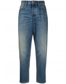Ami Cropped Jeans - Blauw afbeelding