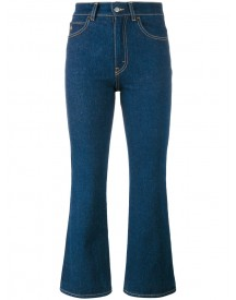 Attico - Rosa Indigo High Waisted Kick Flare Jeans - Women - Cotton - 0 afbeelding