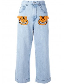 Au Jour Le Jour - Cropped Jeans - Women - Cotton/viscose - 38 afbeelding
