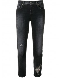 Cambio - Distressed Lilian Cropped Jeans - Women - Cotton/polyester/spandex/elastane - 34 afbeelding