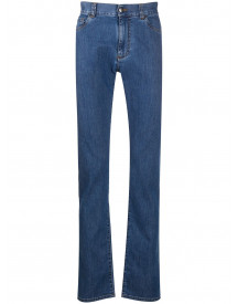 Canali Slim-fit Jeans - Blauw afbeelding