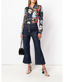 Carven High Waist Cropped Jeans - Blauw afbeelding