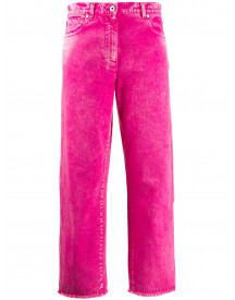 Cédric Charlier Cropped Jeans - Roze afbeelding
