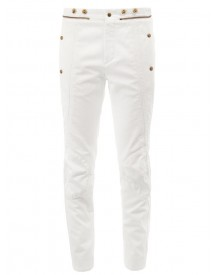 Chloé - Zipper Detail Panelled Jeans - Women - Cotton - 40 afbeelding