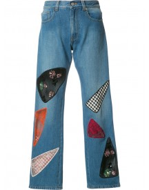 Christopher Kane - Patchwork Jeans - Women - Cotton - 25 afbeelding