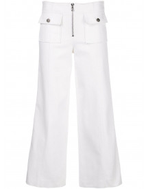 Cinq A Sept Cropped Broek - Wit afbeelding