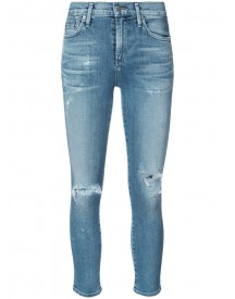 Citizens Of Humanity - Cropped Distressed Skinny Jeans - Women - Cotton/spandex/elastane - 27 afbeelding