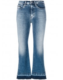 Ck Jeans - High Rise Cropped Flared Jeans - Women - Cotton/spandex/elastane - 28 afbeelding