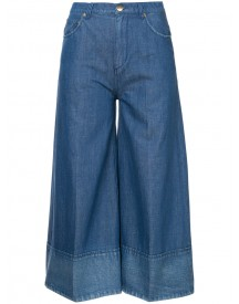 Co - Wide Leg Cropped Jeans - Women - Cotton/linen/flax - 6 afbeelding