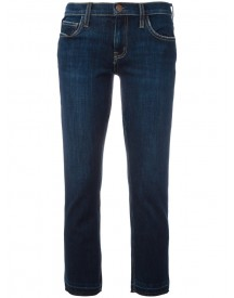 Current/elliott - Bootcut Cropped Jeans - Women - Cotton/polyester/spandex/elastane - 25 afbeelding