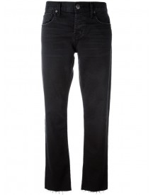 Current/elliott - Cropped Straight Jeans - Women - Cotton/spandex/elastane - 32 afbeelding