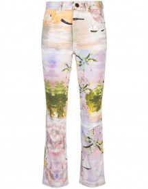 Cynthia Rowley Straight Jeans - Paars afbeelding