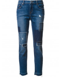 Derek Lam 10 Crosby Mila Mid-rise Slim Girlfriend - Distressed - Blauw afbeelding