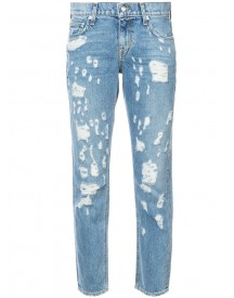 Derek Lam 10 Crosby - Ripped Cropped Jeans - Women - Cotton - 26 afbeelding
