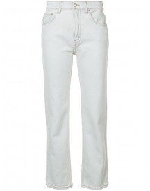 Derek Lam 10 Crosby - Straight Cropped Jeans - Women - Cotton/elastodiene - 24 afbeelding