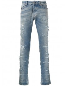 Diesel Black Gold - Distressed Slim-fit Jeans - Men - Cotton/spandex/elastane - 29 afbeelding