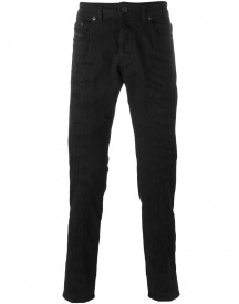 Diesel Black Gold - Embroidered Distressed Jeans - Men - Cotton/spandex/elastane - 30 afbeelding