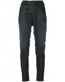 Diesel - Coated Tapered Jeans - Women - Cotton/polyester/spandex/elastane - 27 afbeelding
