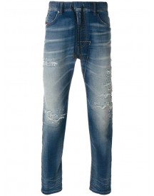 Diesel - Distressed Tapered Jeans - Men - Cotton/polyester/spandex/elastane - 32 afbeelding