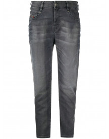 Diesel High-rise Tapered Jeans - Grijs afbeelding