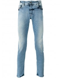 Diesel - Shredded Trim Jeans - Men - Cotton/polyester/spandex/elastane - 30/32 afbeelding