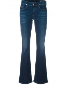 Diesel - Stretch Flared Jeans - Women - Cotton/spandex/elastane - 25/32 afbeelding