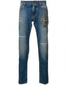 Dolce & Gabbana - Crown & Bee Embroidered Jeans - Men - Silk/cotton/polyester/brass - 52 afbeelding