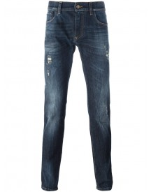 Dolce & Gabbana - Crown & Bee Patch Jeans - Men - Cotton/spandex/elastane - 56 afbeelding