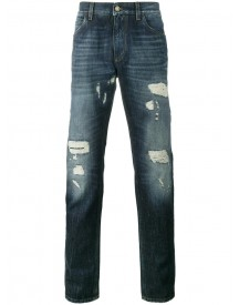 Dolce & Gabbana - Dark Blue Wash Distressed Jeans - Men - Cotton - 52 afbeelding