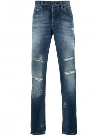 Dolce & Gabbana - Distressed Jeans - Men - Cotton - 44 afbeelding