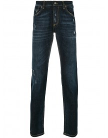 Dolce & Gabbana - Distressed Jeans - Men - Cotton/leather/spandex/elastane/zamac - 48 afbeelding