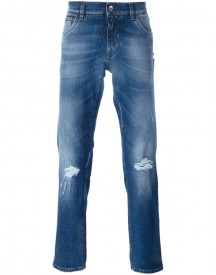 Dolce & Gabbana - Distressed Jeans - Men - Cotton/spandex/elastane - 44 afbeelding