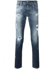 Dolce & Gabbana - Distressed Jeans - Men - Cotton/spandex/elastane - 52 afbeelding