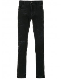 Dolce & Gabbana - Distressed Skinny Jeans - Men - Cotton/calf Leather/zamak - 52 afbeelding