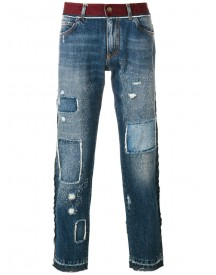 Dolce & Gabbana - Distressed Slim-fit Jeans - Men - Cotton - 48 afbeelding