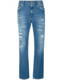 Dondup - Cropped Distressed Jeans - Women - Cotton/polyester - 29 afbeelding
