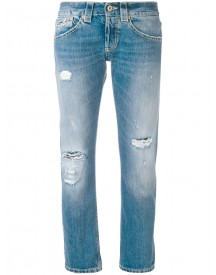 Dondup - Distressed Boyfriend Jeans - Women - Cotton - 29 afbeelding