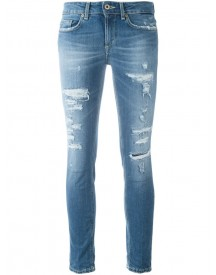 Dondup - Distressed Skinny Jeans - Women - Cotton/polyester/spandex/elastane - 30 afbeelding