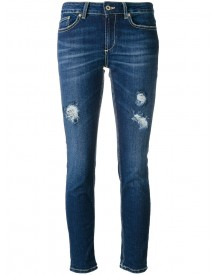 Dondup - Distressed Skinny Jeans - Women - Cotton/spandex/elastane - 27 afbeelding