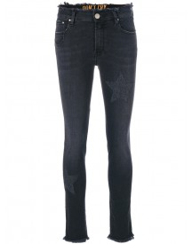 Don't Cry - Frayed Star Jeans - Women - Cotton/polyester/spandex/elastane - 32 afbeelding