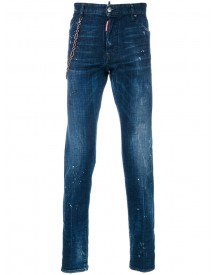 Dsquared2 - Chain Strap Cool Guy Jeans - Men - Cotton/calf Leather/polyester/spandex/elastane - 52 afbeelding
