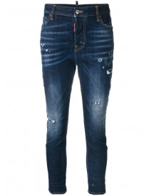 Dsquared2 - Cool Girl Bleached Effect Jeans - Women - Cotton/polyester/spandex/elastane - 44 afbeelding
