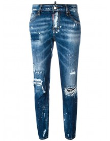 Dsquared2 - Cool Girl Cropped Distressed Jeans - Women - Cotton/polyester - 38 afbeelding