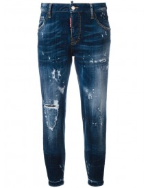 Dsquared2 - Cool Girl Distressed Cropped Jeans - Women - Cotton/polyester/spandex/elastane - 38 afbeelding