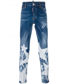 Dsquared2 - Cool Guy Big Star Jeans - Men - Cotton/polyester/spandex/elastane - 48 afbeelding