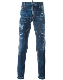 Dsquared2 - 'cool Guy' Bleached Effect Jeans - Men - Cotton/calf Leather/polyester/spandex/elastane - 50 afbeelding